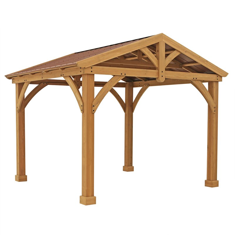 Yardistry Avery Pavilion 10 Ft W X 12 Ft D Wood