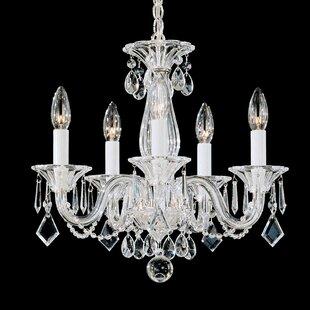 Schonbek chandeliers youll love wayfair allegro 5 light candle style chandelier by schonbek aloadofball Gallery