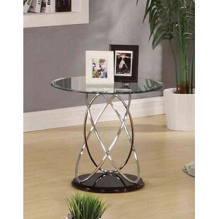 Talkington Contemporary Round Living Room End Table