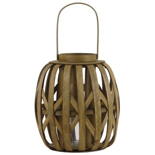 Round Wood Lantern by Bay Isle Home