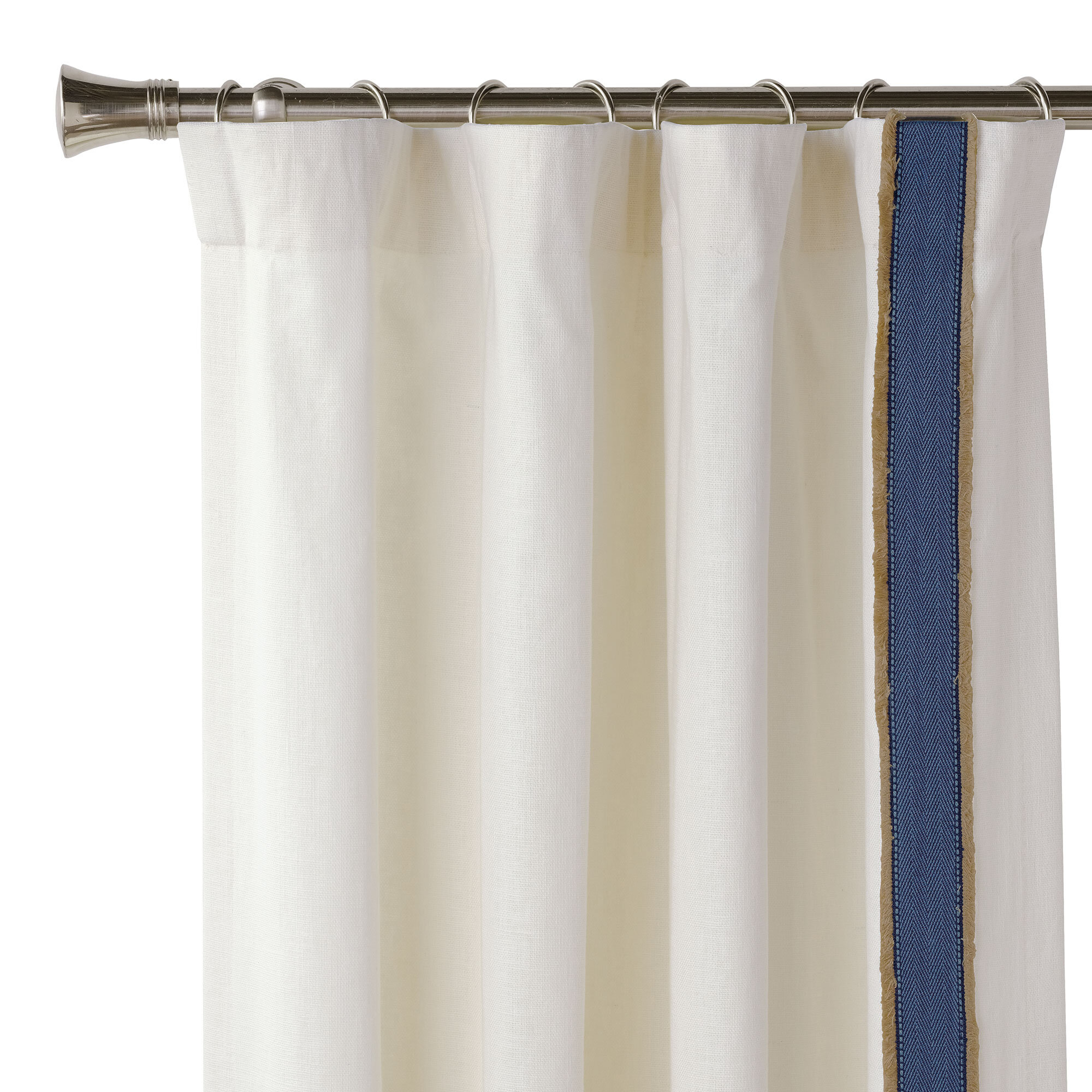 Eastern Accents Maritime 100 Cotton Room Darkening Rod Pocket Single Curtain Panel Perigold