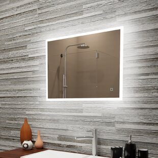 Compare Boman Reflection Dimmable LED Lighted Frosted Edge Bathroom/Vanity Mirror By Orren Ellis