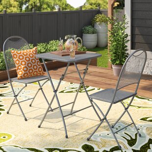 Latitude Run Denney 3 Piece Folding Bistro Set
