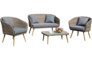 Jose 4 Piece Sofa Seating Group with Cushions
