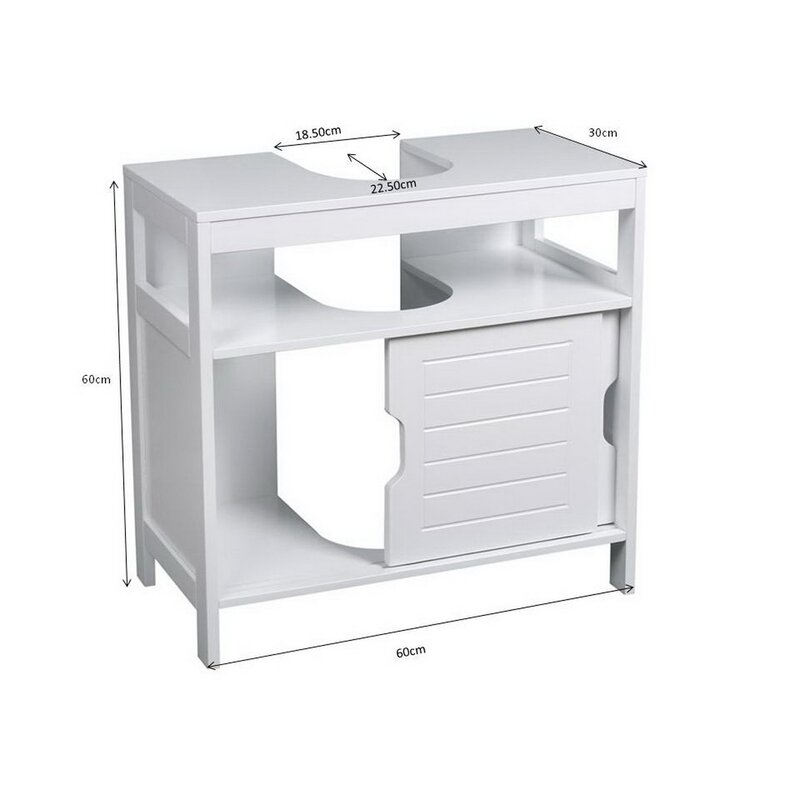 Hokku Designs Ashmore 60cm Free Standing Under Sink Storage Unit