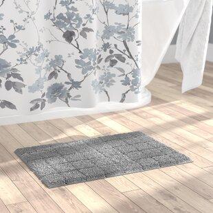 Laughlin 100% Cotton Summer Tile Spray Latex Back Bath Rug