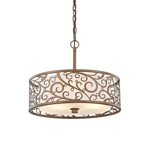 3-Light Drum Chandelier by..