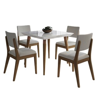 Lemington 5 Piece Dining Set by George Oliver Comparison