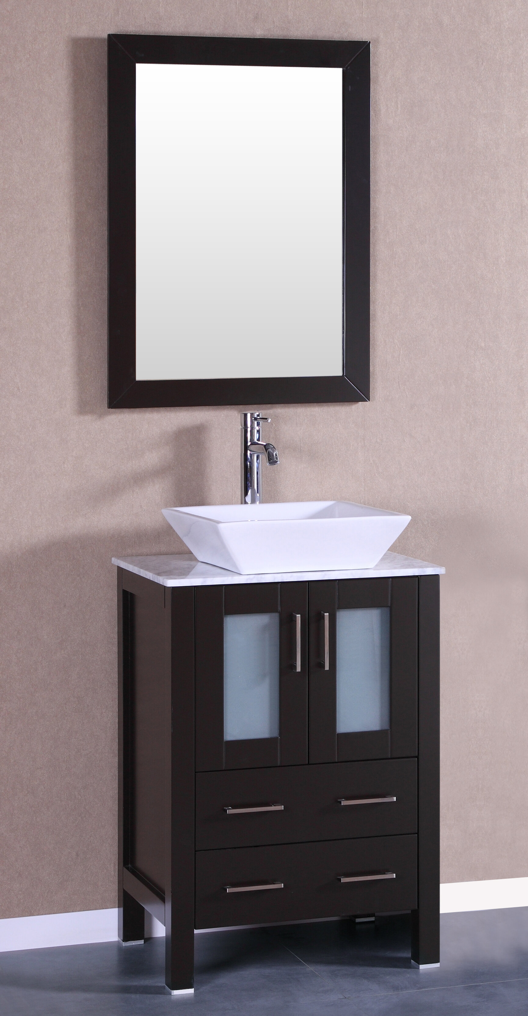 Lonergan 24 Single Bathroom Vanity Set With Mirror