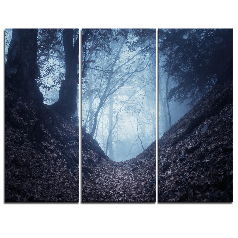 Designart Sunlight Hitting Foggy Forest 3 Piece Graphic Art On Wrapped Canvas Set Wayfair