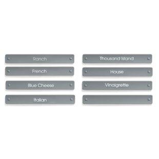 8 Piece Salad Dressing Carafe Label Set (Set of 2)