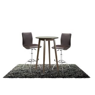 Tavarez 3 Piece Adjustable Pub Table Set