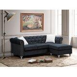 Farrel 82'' Velvet Reversible Sofa & Chaise by Rosdorf Park