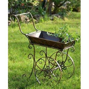 Wilmer Iron Flower Cart Wheelbarrow Planter