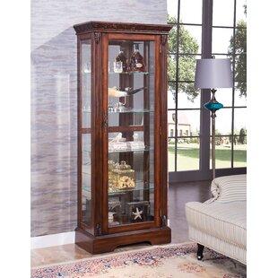 Astoria Grand Emelle Lighted Curio Cabinet