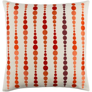 Flying Colors Dewdrop Cotton Throw Pillow