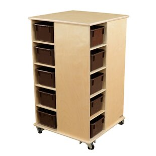 Great deal Spinner Double Sided 20 Compartment Cubby with Trays By Wood Designs