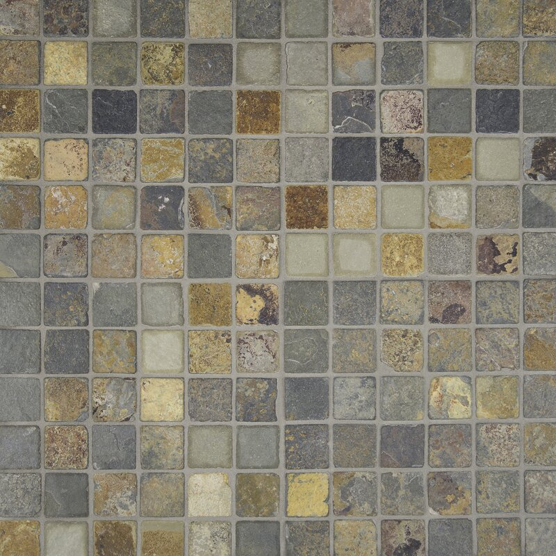 2 X Slate Mosaic Tile In California Gold