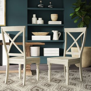 Rasen Solid Wood Dining Chair (Set of 2) Three Posts