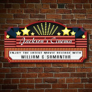 Swinford Home Theatre Marquee Personalized Sign Wall Decor