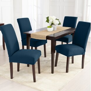 Jersey Knit Solid Dining Chair Slipcover Set Of 4
