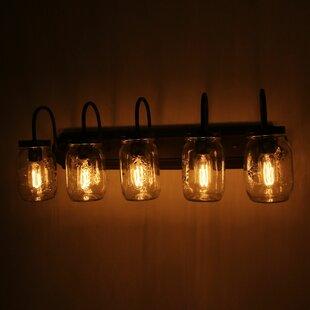 Haysi Jar 5-Light Vanity L..