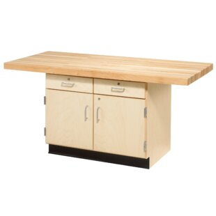 Two Station 64W Wood Top Workbench by Diversified Woodcrafts