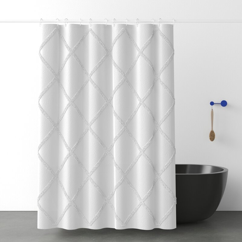 100 Cotton Geometric Single Shower Curtain Reviews Allmodern