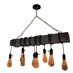 Bowlin Farmhouse 8-Light Rectangle Pendant (Set of 5) by Williston Forge