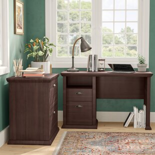 Ferrell Modern 2 Piece Desk Office Suite by Three Posts Comparison
