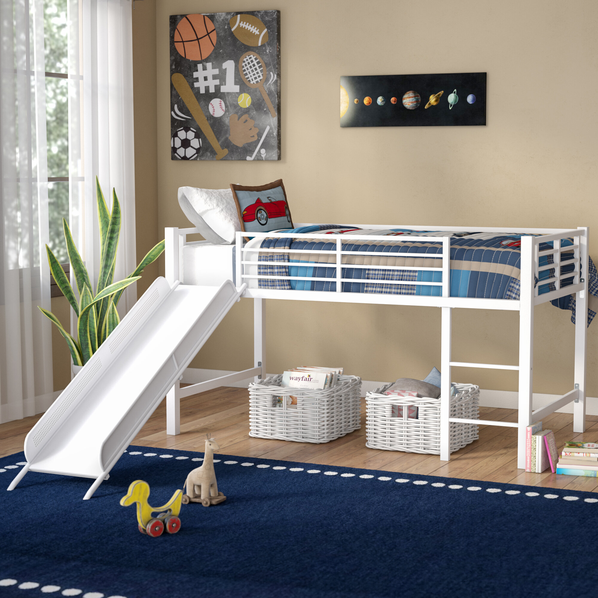 Kids Beds With Slides You Ll Love In 2021 Wayfair