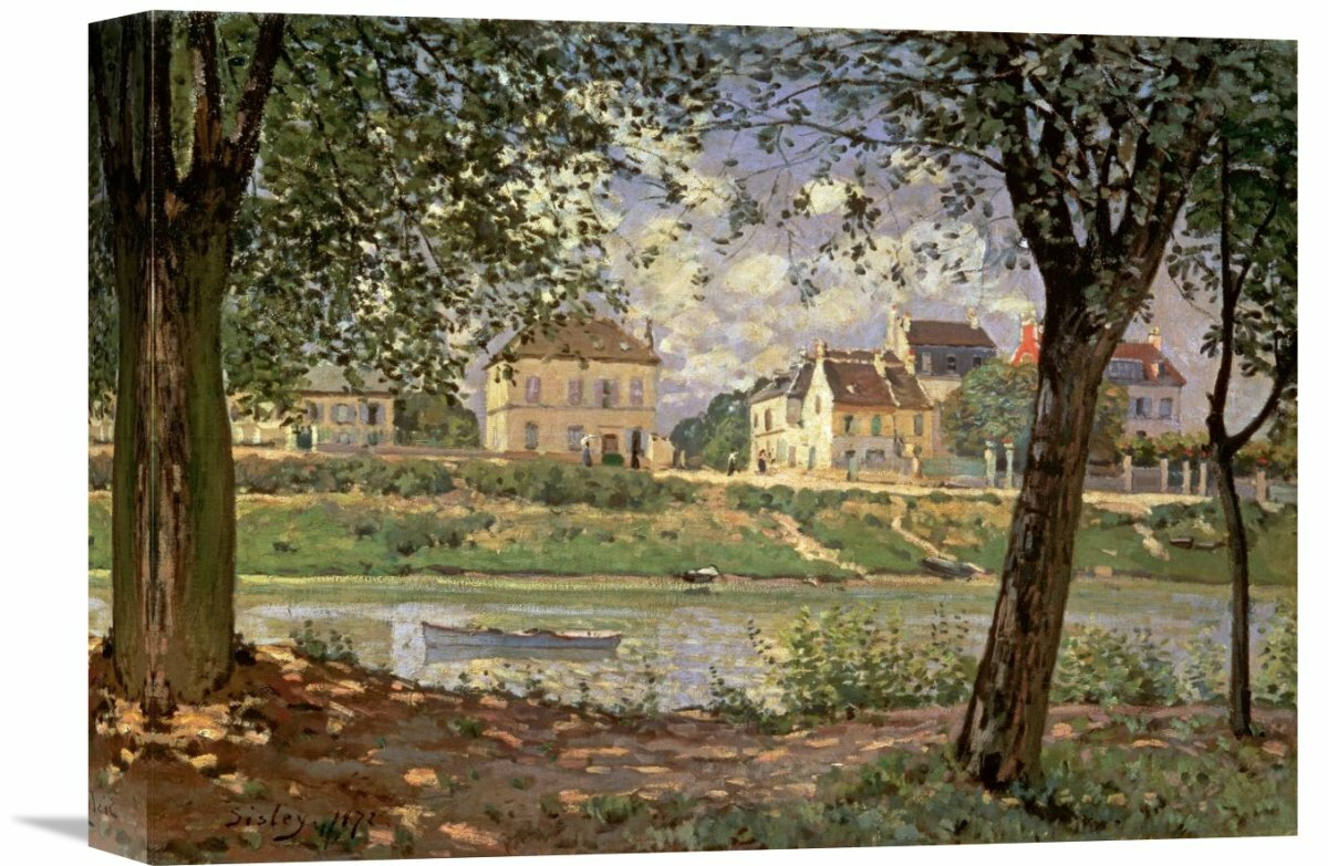 Global Gallery Little Town On The River Seine 1872 By Alfred Sisley Painting Print On Wrapped Canvas Wayfair