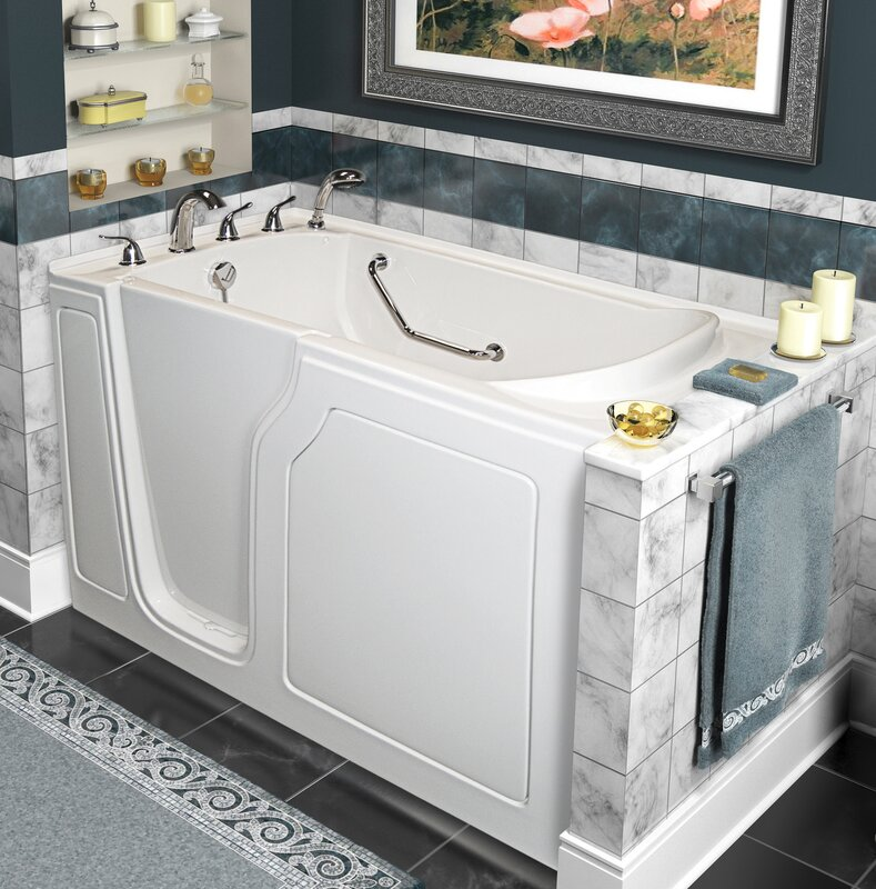 Dignity 48u2033 X 28u2033 Whirlpool And Air Jetted Walk In Bathtub