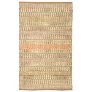 Farnborough Handwoven Cotton Brown/Orange Rug by Charlton Home