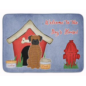 Dog House Brindle Boxer Memory Foam Bath Rug