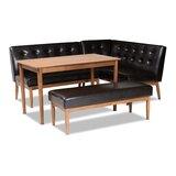 Lott 4 - Piece Rubber Solid Wood Dining Set by Corrigan Studio®