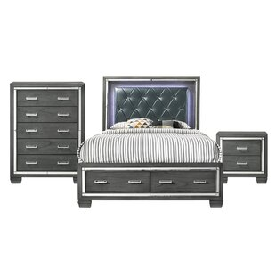 Anthea Platform 3 Piece Bedroom Set