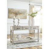 Theron 50 Solid Wood Console Table by Highland Dunes