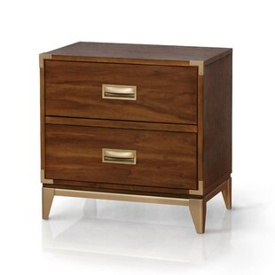 Dreyer Transitional 2 Drawer Nightstand by Mercer41