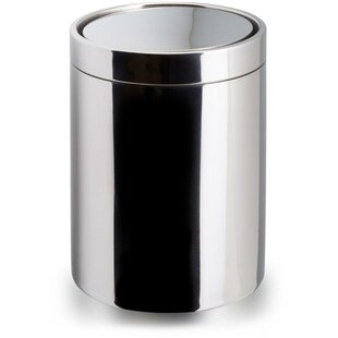 AGM Home Store Round Countertop Top Steel Open Waste Basket