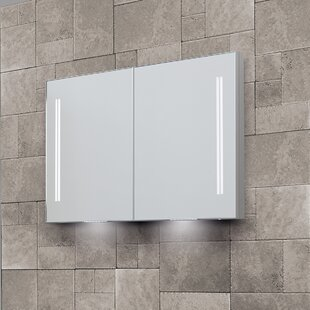 Sharleen Double Door Recessed Mirror Cabinet With LED Lighting By Belfry Bathroom