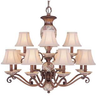 Classic Lighting Tapestry 12-Light Shaded Chandelier