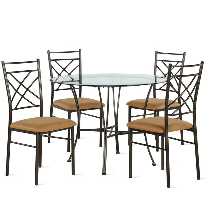 Zaria 5 Piece Dining Set [ Best For Durable and lightweight design that is quick and easy assembly ]