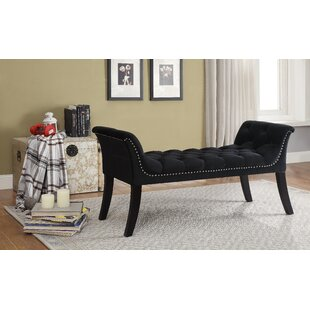 Lanham Upholstered Bench by Alcott Hill Best