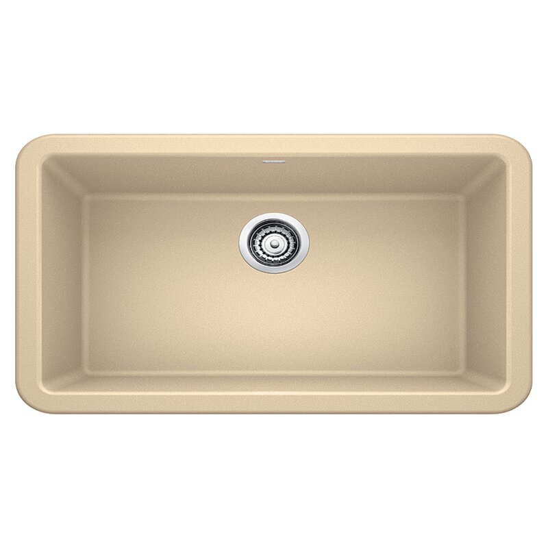 "Blanco Ikon 33"" L x 19"" W Farmhouse/Apron Kitchen Sink  Finish: Biscotti"