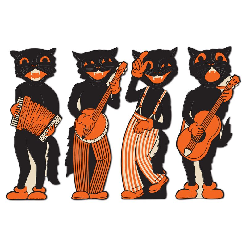 Halloween Vintage Scat Cat Band Cutouts