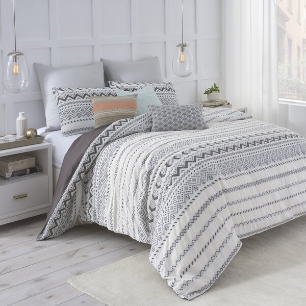 Brand-new Under the Canopy Abstract Aztec Reversible Comforter Collection  ZC46