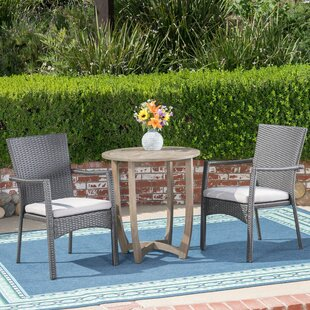 Ebern Designs Beeler 3 Piece Bistro Set with Cushions