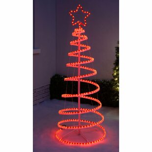 Christmas Flashing 3D Spiral Tree Rope Lighted Display By The Seasonal Aisle