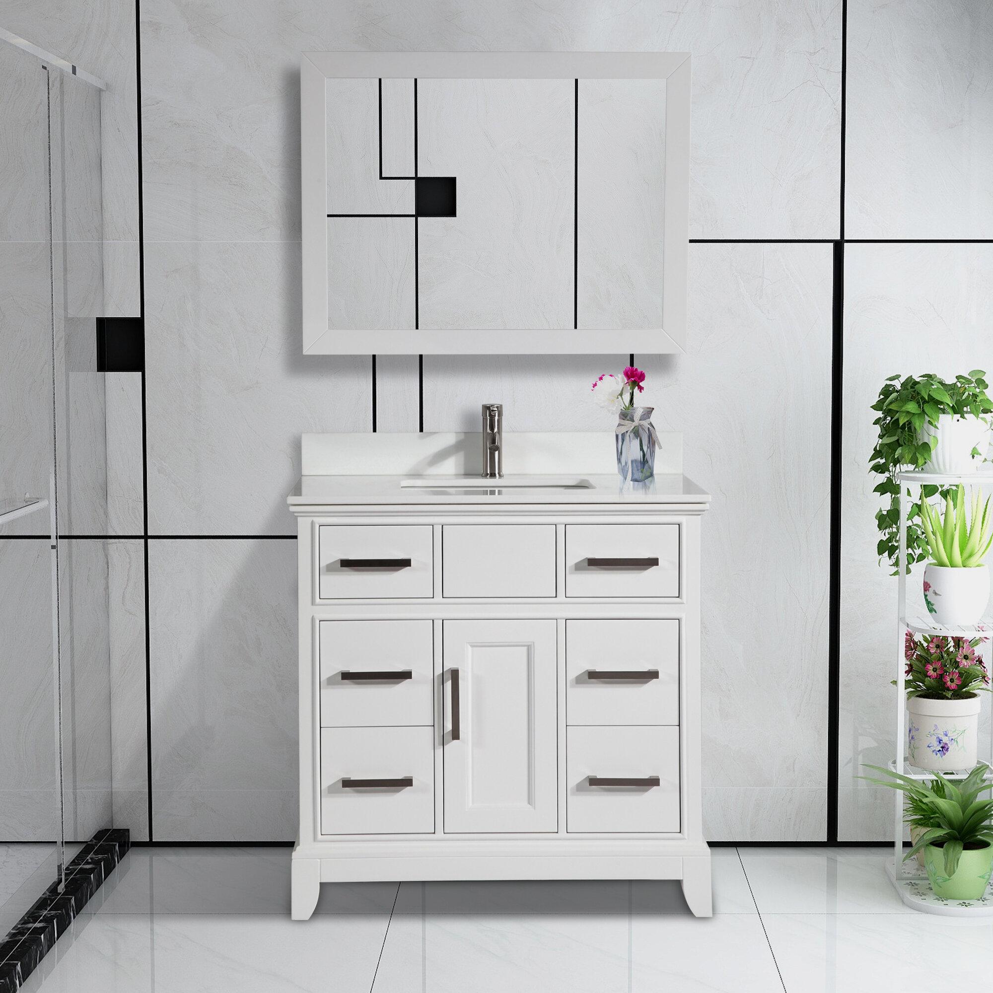 Valor 36 Single Bathroom Vanity Set With Mirror Reviews Joss Main